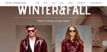 Thiết kế website thời trang – may mặc