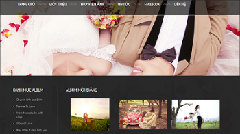 Thiết kế website studio ảnh cưới chuyên nghiệp